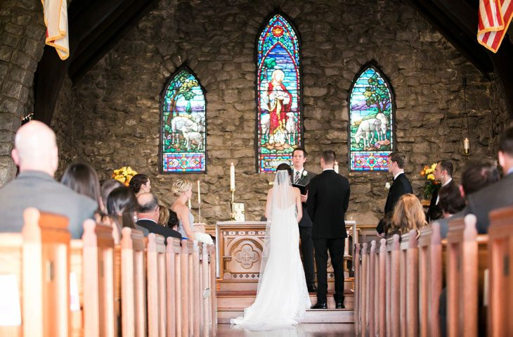 Wedding Ceremony Being Held at Grace Episcopal Church
